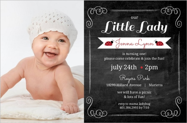 Unique First Birthday Themes Girl Party Ideas Invitations Wording – First Birthday Photo Invitations