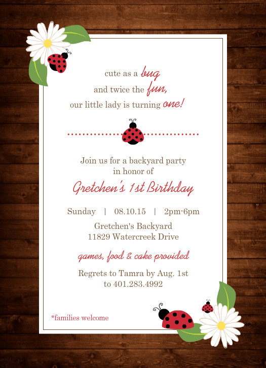 Unique First Birthday Themes Party Ideas Invitations Wording