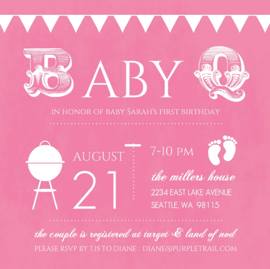 Unique First Birthday Themes Girl Party Ideas Invitations Wording